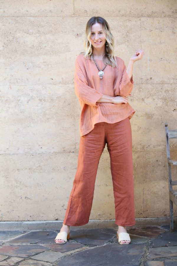 Women's Linen Pants Turmeric