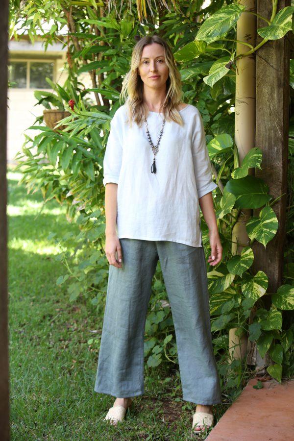 Linen Pants Sage